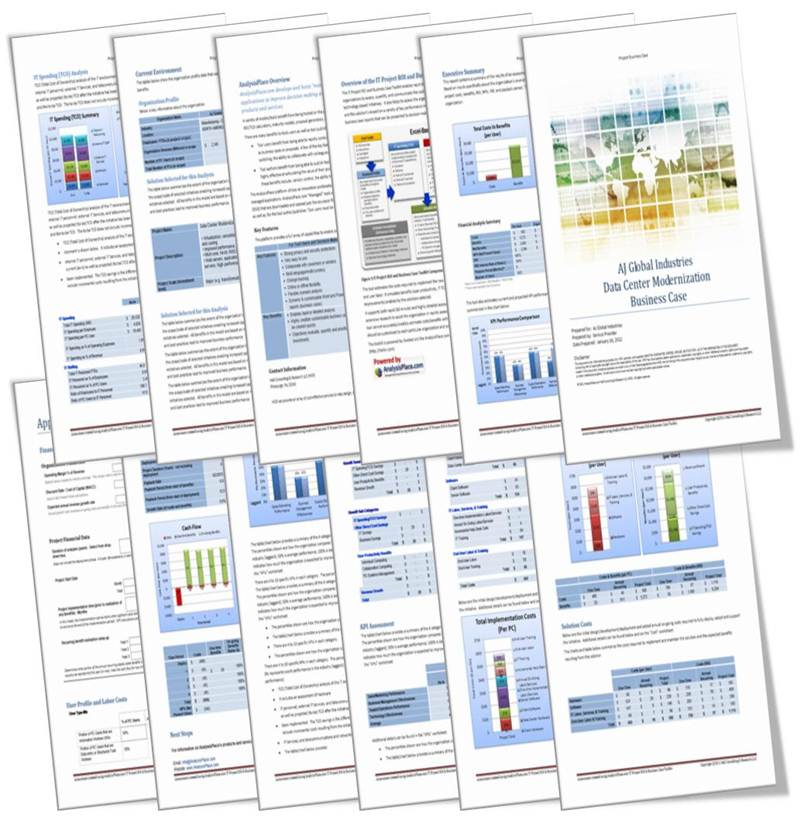 It project roi and business case toolkit sample it project business case report wajeb Gallery