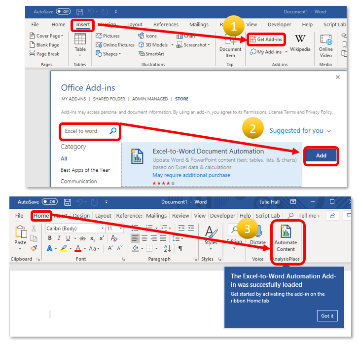 AnalysisPlace com > Document Automation > Get Started