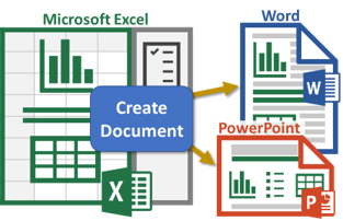 Template-based Word or PowerPoint Document Generation from Excel