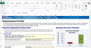 IT Project ROI Tool - Excel-based Version