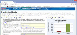 IT Project ROI Tool - Web-based Version